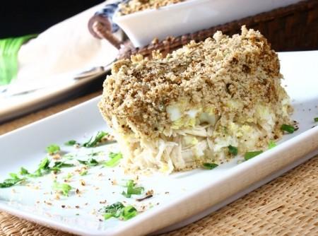 Torta de Frango com Purê de Batatas e Aveia | CyberCook