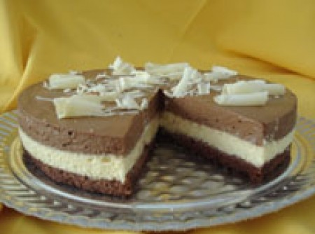 Torta Três em Um | valeria jardim