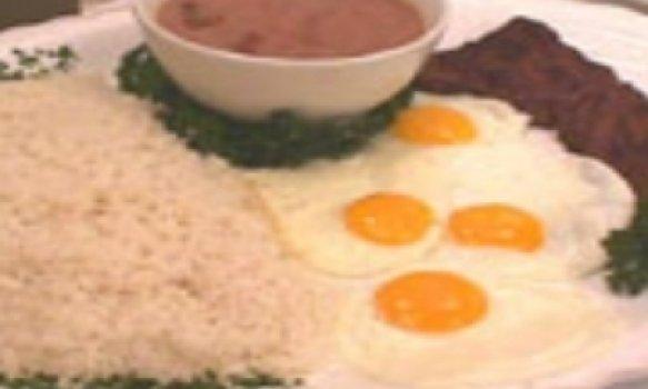 Arroz,feijão,bife e ovo