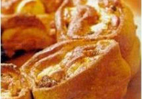 Pão recheado de banana