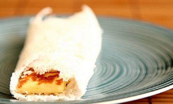 Tapioca com queijo coalho