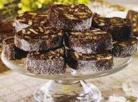 Salame de Chocolate sem Ovo Cru | virginia palhares