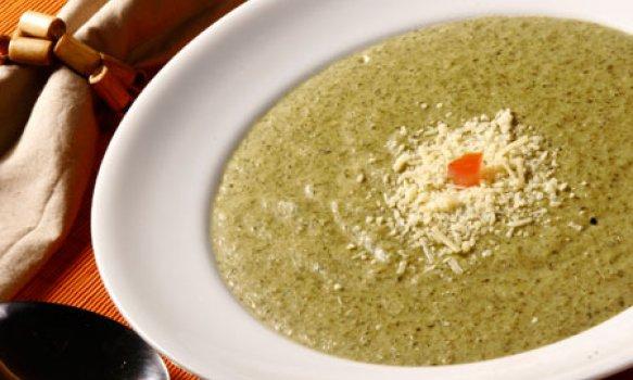 Sopa Creme de Espinafre de Microondas