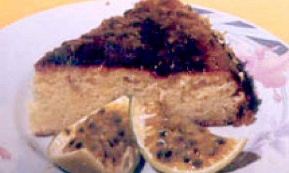 bolo de maracuja com gotas de chocolate