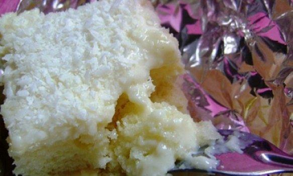 bolo gelado e embrulhado