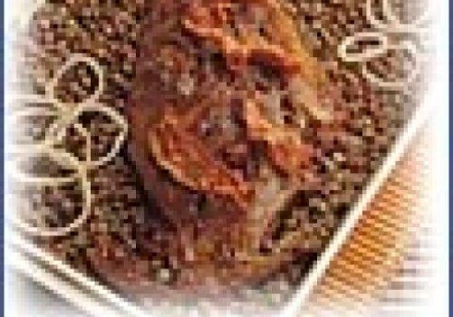 Carneiro com lentilha