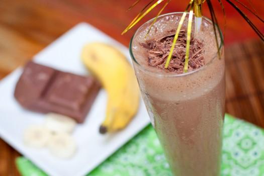 Vitamina de Banana com Chocolate