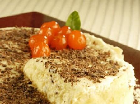 Torta de chocolate branco com maracujá | Roseleide B. Soares