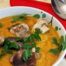 Sopa de Cenoura, Pinhão e Cogumelos