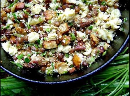 Farofa de feijão verde