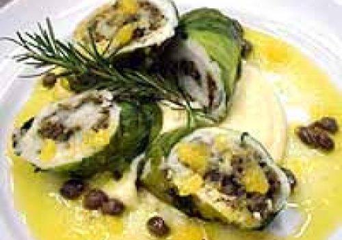 Linguado com sabores mediterrâneos
