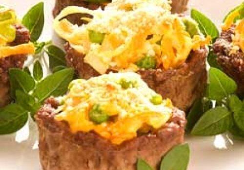 Cestinha de carne c/ recheio legumes