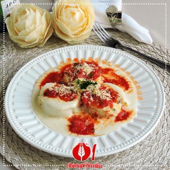 Rondeli de Espinafre, Ricota e Tomate Seco