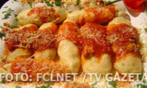 Nhocão recheado com quatro queijos