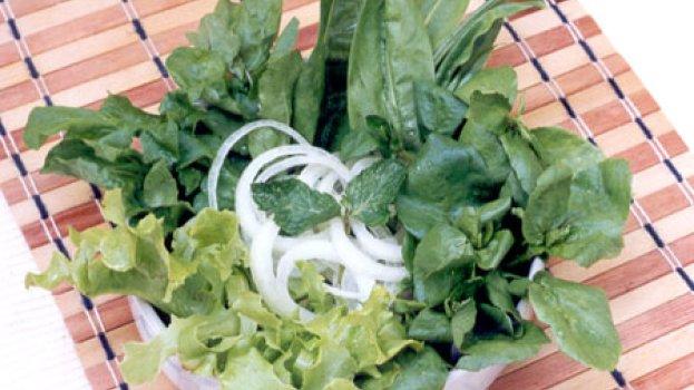 Salada Verde com Hortelã