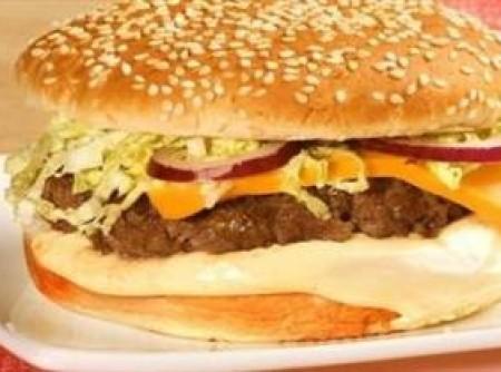 Sanduíche de hambúrguer de picanha