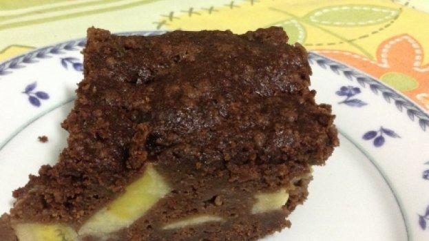 Choconana (bolo de chocolate com banana)