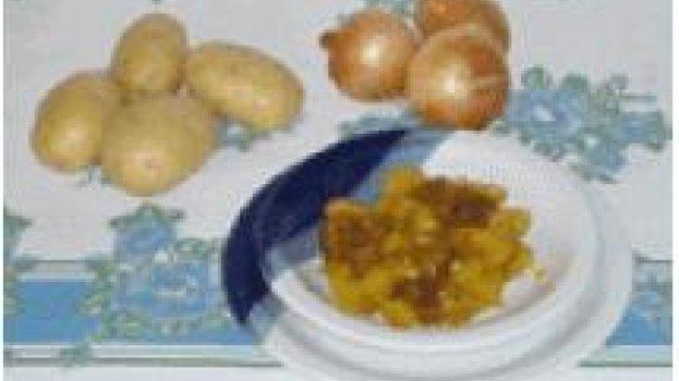 Picadinho de carne com batatas