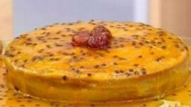 Bolo de castanha com maracujá