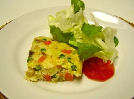 Omelete de Forno com Legumes