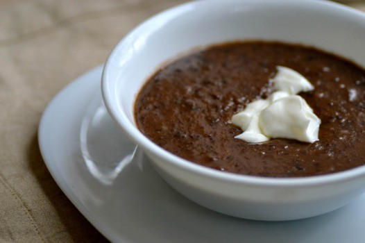 Sopa de Frijoles Negros