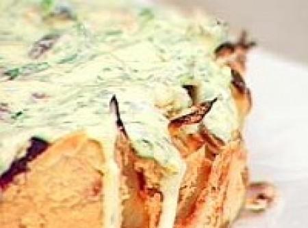 Torta de queijo com cebola