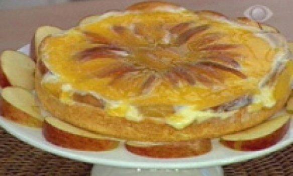 Torta de Maçã com Creme de Laranja