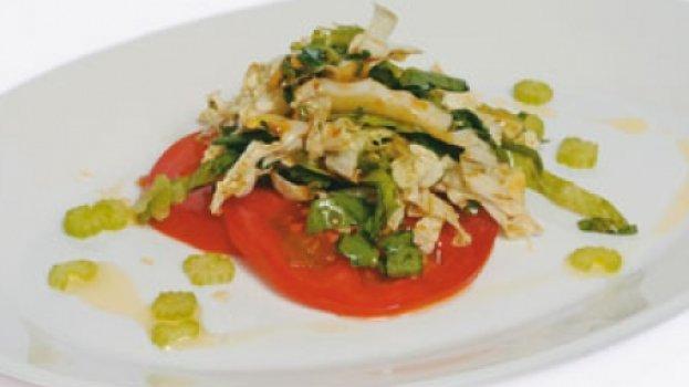 Salada com toque oriental