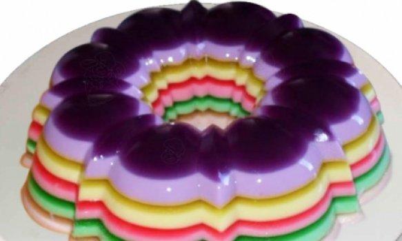 Gelatina Diet Colorida Em Camadas