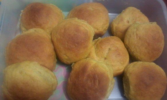 Pãesinhos de batata doce