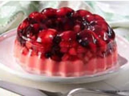 Parfait de frutas vermelhas