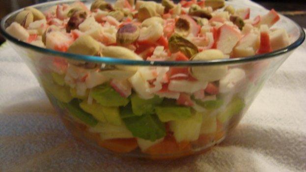 Salada de Kani Kama com Frutas