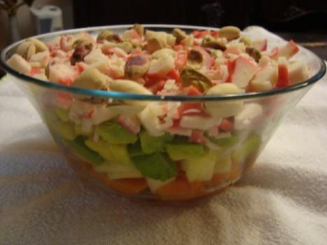 Salada de Kani Kama com Frutas | Marta Gonçalves Achiamé