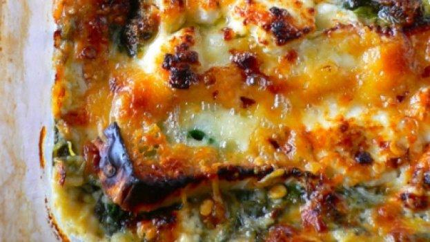 Espinafre com queijo Brie