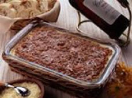 Lasanha de Carne Moída, Presunto e Mussarela