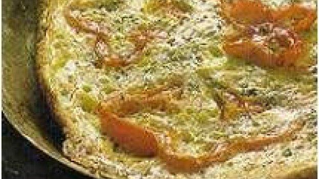 Fritada de presunto de peru e queijo