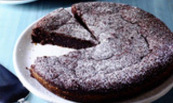 """Bolo (""""torte"""") de chocolate e amêndoas"""