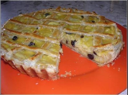 Torta de maçã e laranja