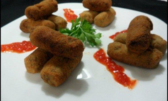Croquete de carne com batata