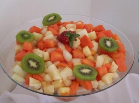 Mousse de Salada de Fruta
