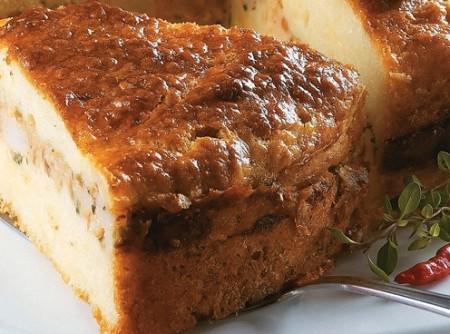 Torta de Camarão com Azeitonas