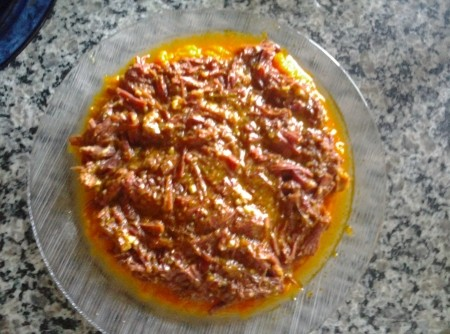 Carne Seca com Abóbora