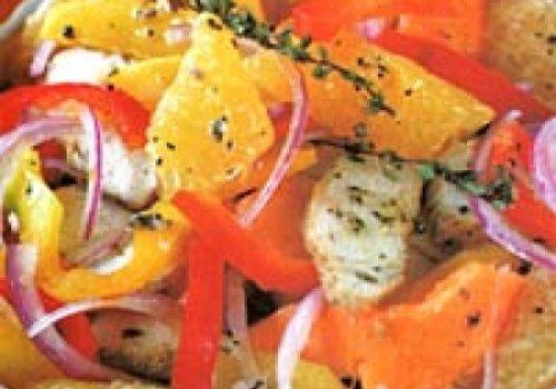Salada de frango e frutas