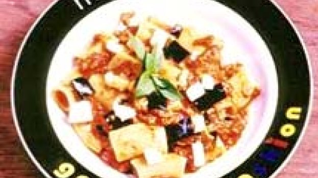 Rigatone com Pancetta