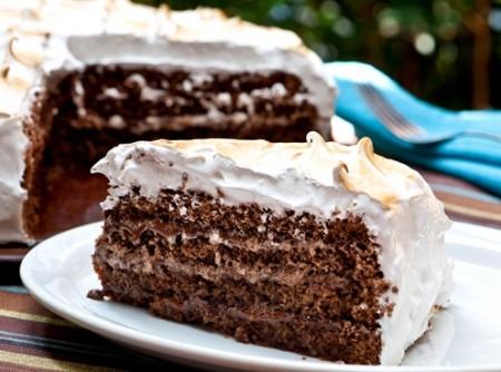 Bolo de Chocolate com Marshmallow