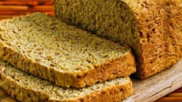 Pão de Linhaça Dourada sem Glúten
