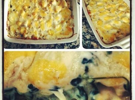 Batata gratinada com brócolis