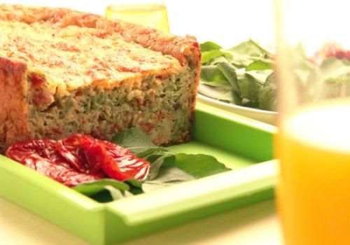 Torta de Rúcula e Tomate Seco