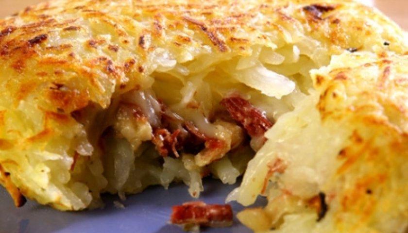 Batata com Carne Seca e Cream Cheese