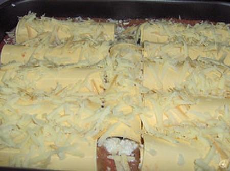 Caneloni de espinafre e ricota